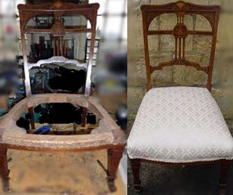craft courses upholstery before and after