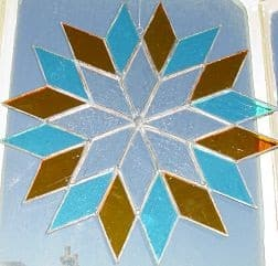 craft courses stained glass star