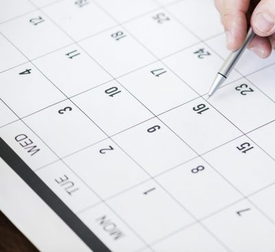 booking dates in a calendar