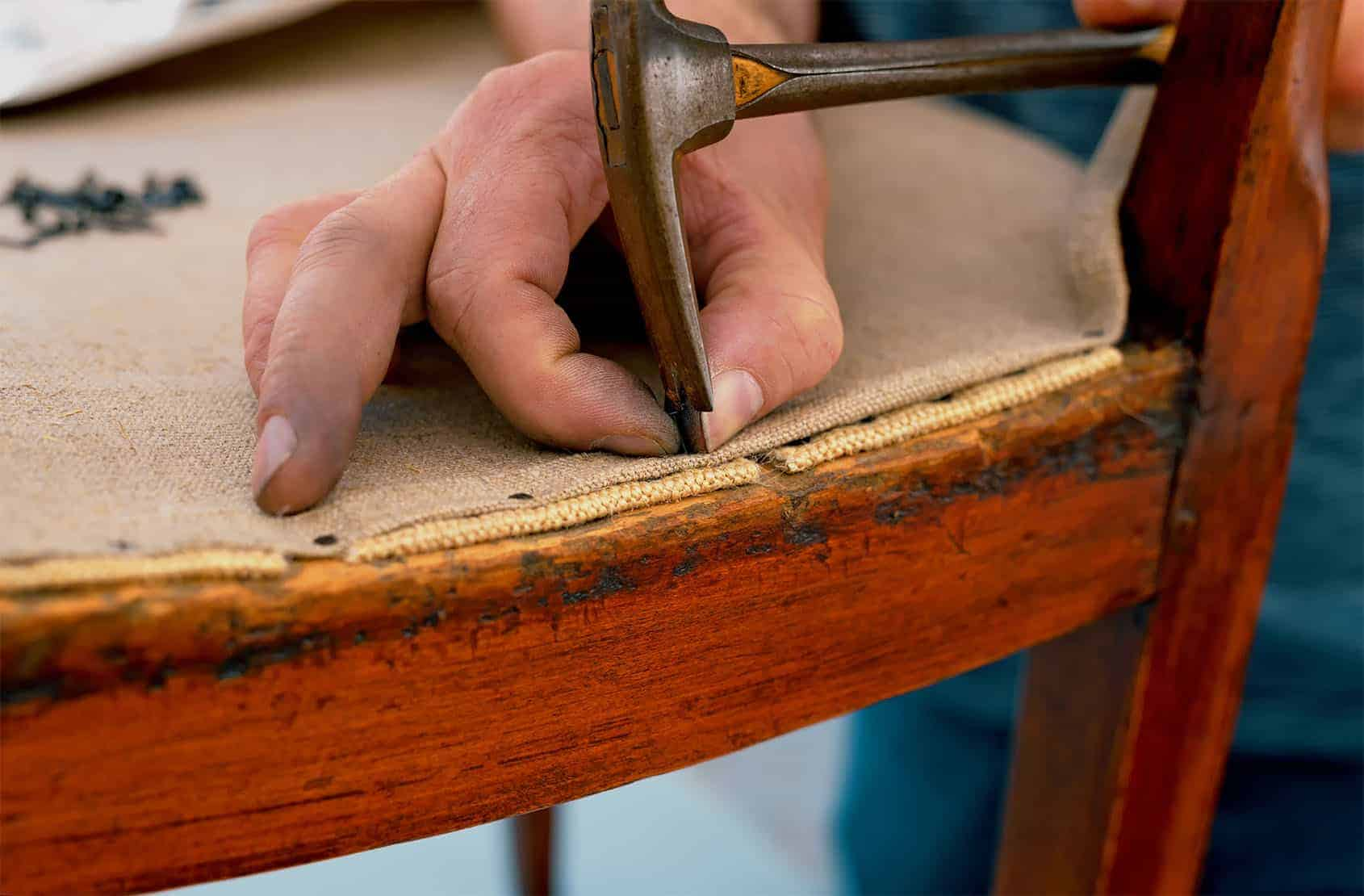 craft courses upholstery base hessian layer