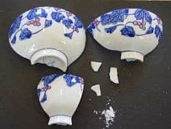 china restoration course broken bowl
