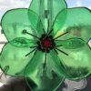 wild rose bowl green glass