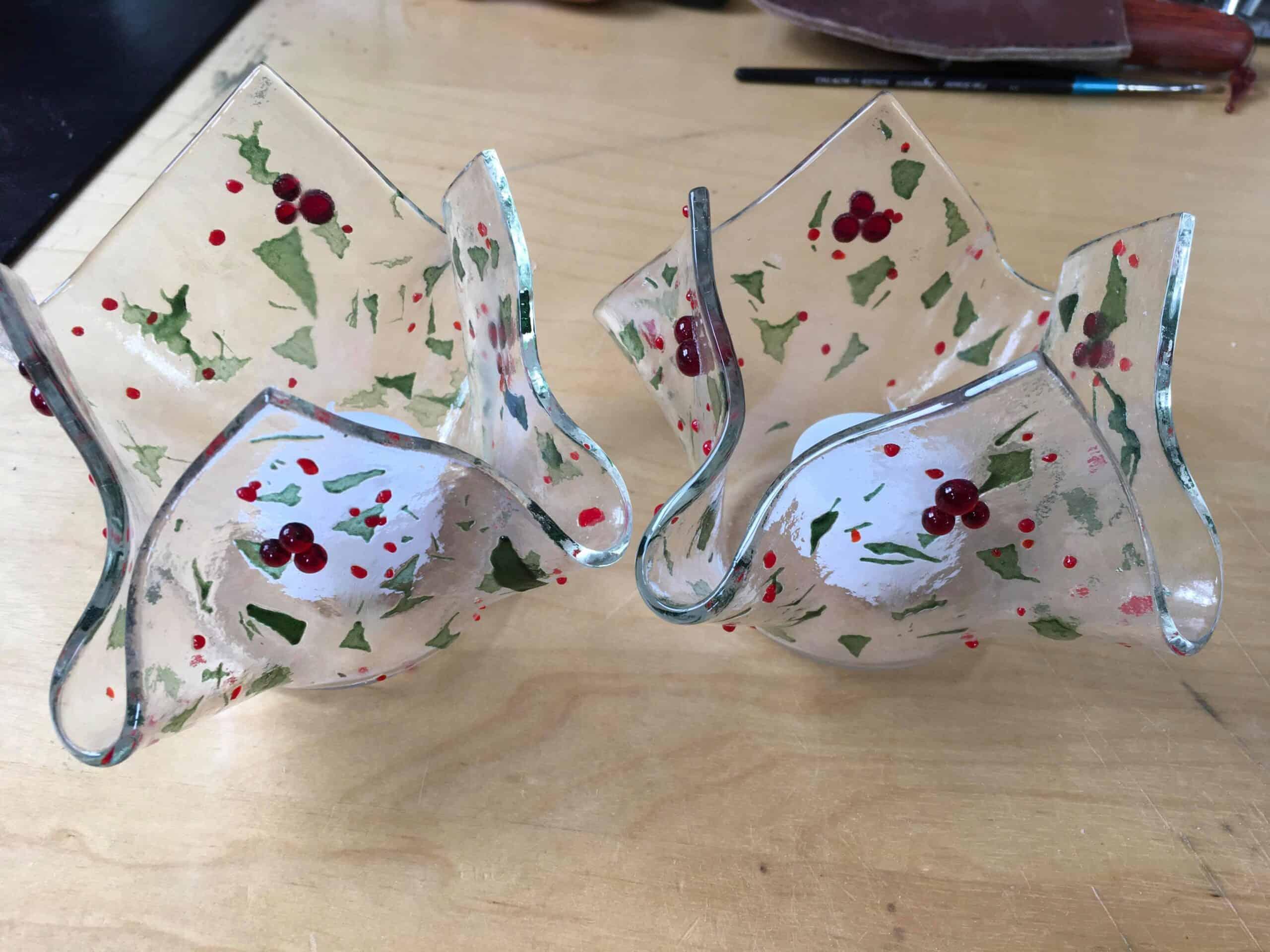 Christmas bowl fused glass workshop